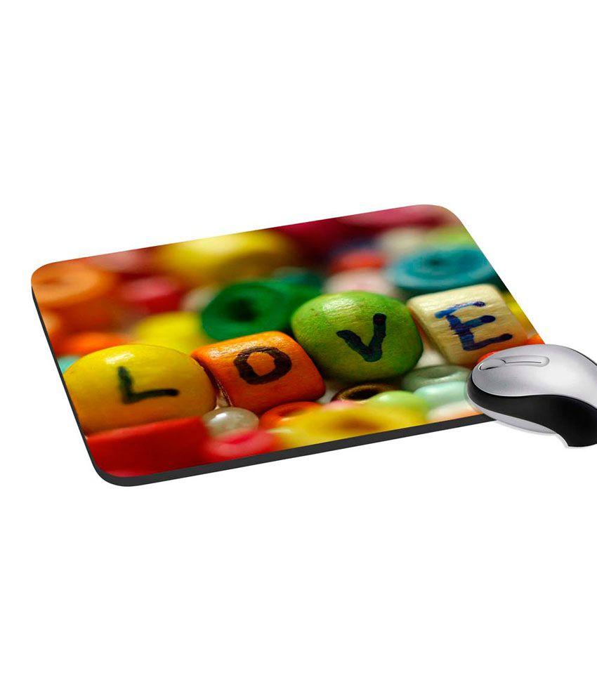 Mesleep Love Digitally Printed Mouse Pad
