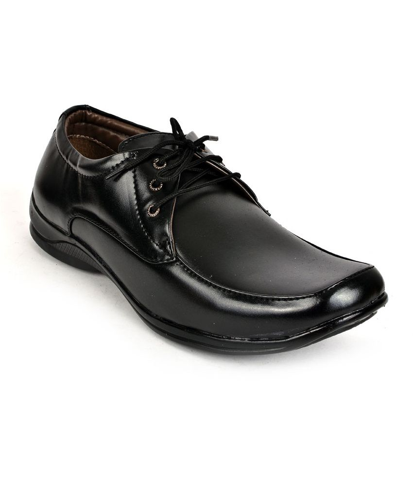 shoes n style black office non leather formal shoes price