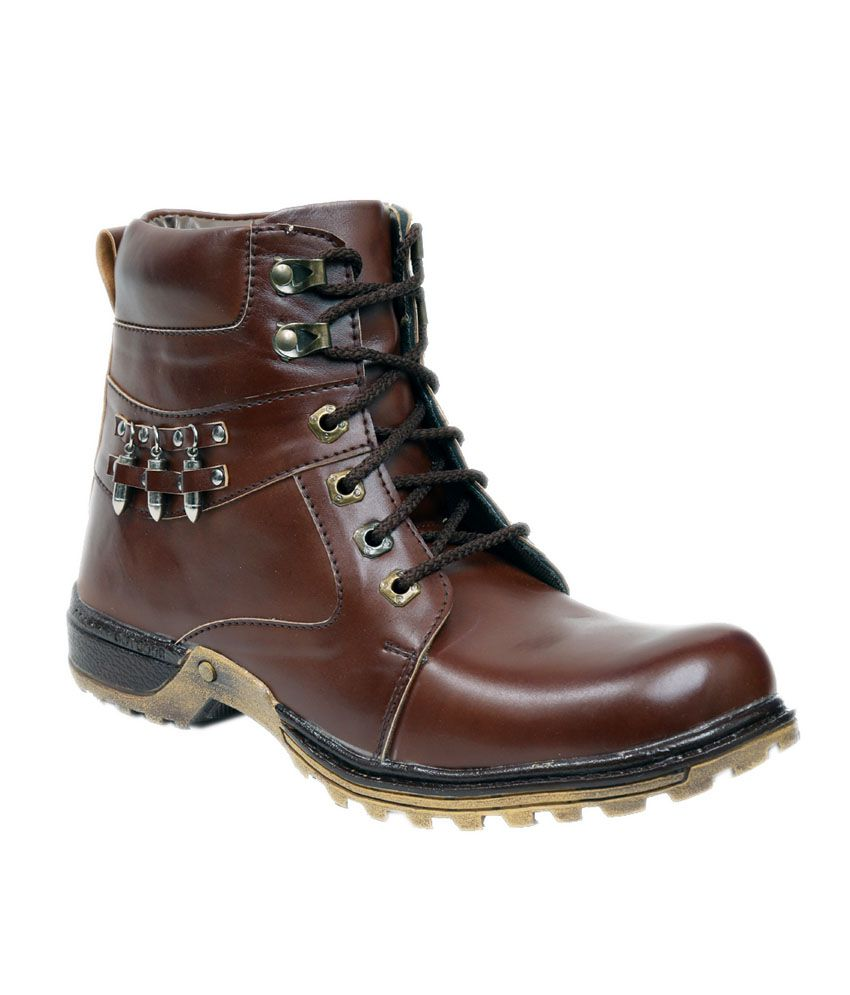 Pipo Brown Synthetic Leather Boots