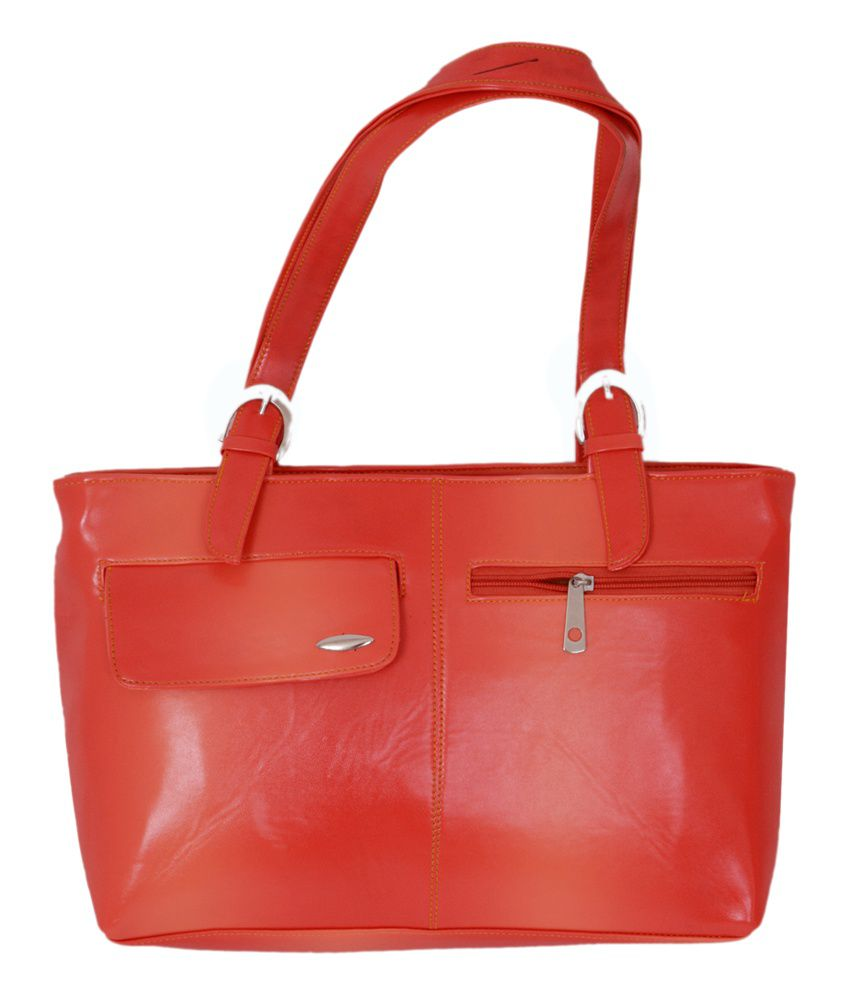 Azelea Red P.u. Shoulder Bag For Women