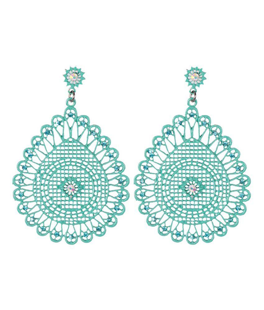Taj Pearl Elegant Modern Green Fancy Earrings