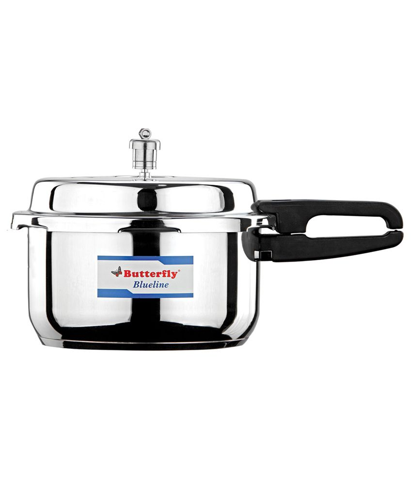 Butterfly Blue Line Stainless Steel 5 L Pressure Cooker (Outer Lid)
