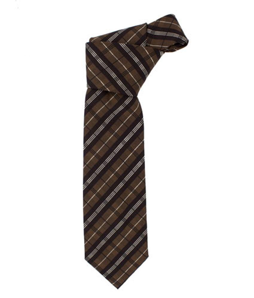 Maesta Brown Stripes Men's Formal Premium Tie