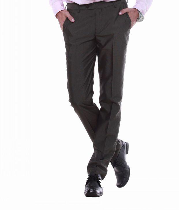 Sangam Apparels Comfy Slim Fit Mens Brown Trousers