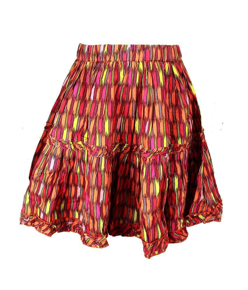 ShopperTree Unusual Multi Layered Skirt