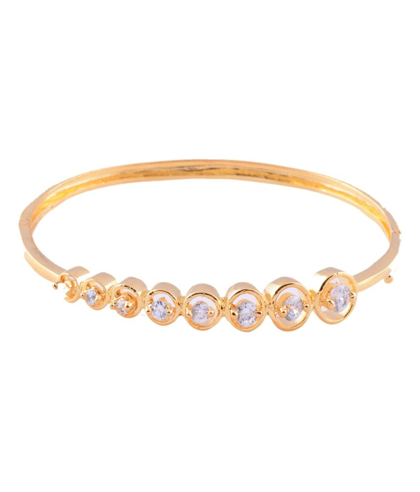 1 Gram Gold Plated Bracelet With White Cz