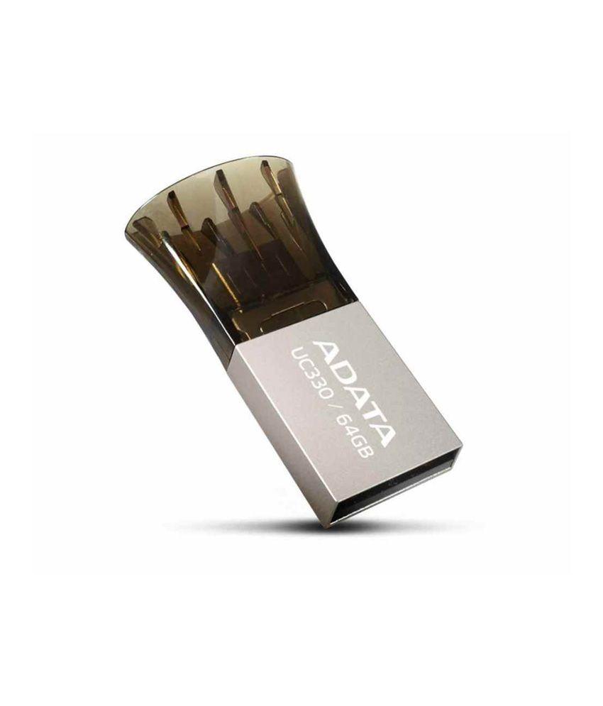 ADATA UC330 64 GB USB 2.0 Flash Drive (Black)