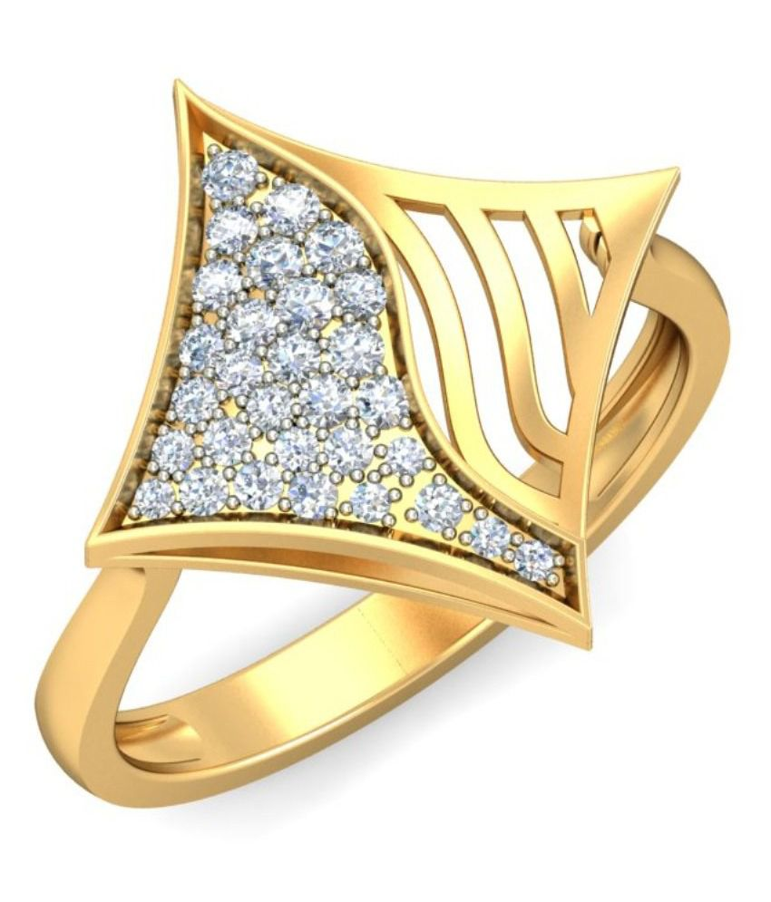 Demira Jewels 14kt Gold Contemporary Ring 100%Certified