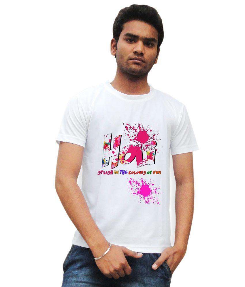 Tiedribbons Holi Hai Printed Cotton Half Sleeve T-shirt