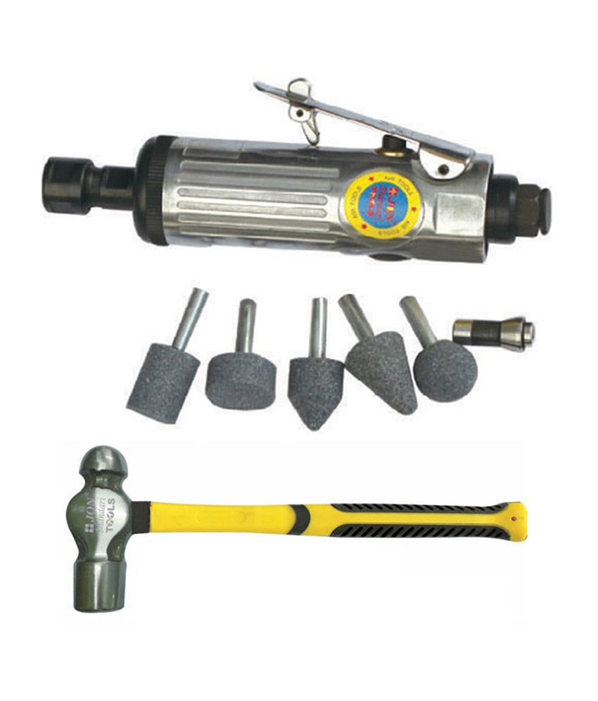 Air Die Grinder With 1/4 Inch Chuck And Ball Pein Hammer - 453.59g