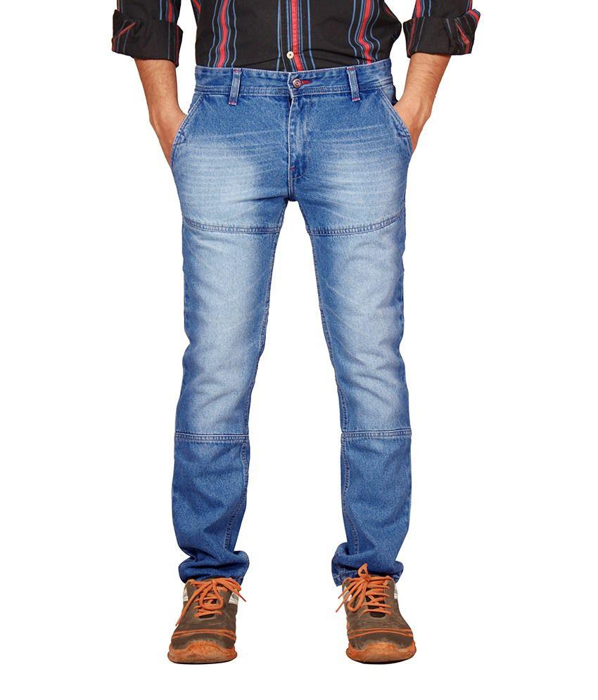 Uber Urban Mens Blue Cotton Denim Jeans