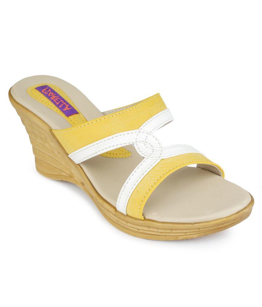 Fiorella Magnificent Yellow Slip-on Heels
