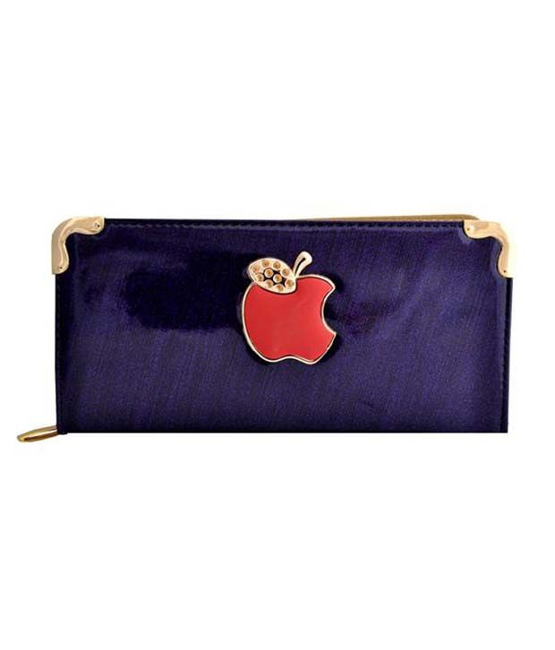 Lalana Purple Non Leather Casual Regular Wallet For Women