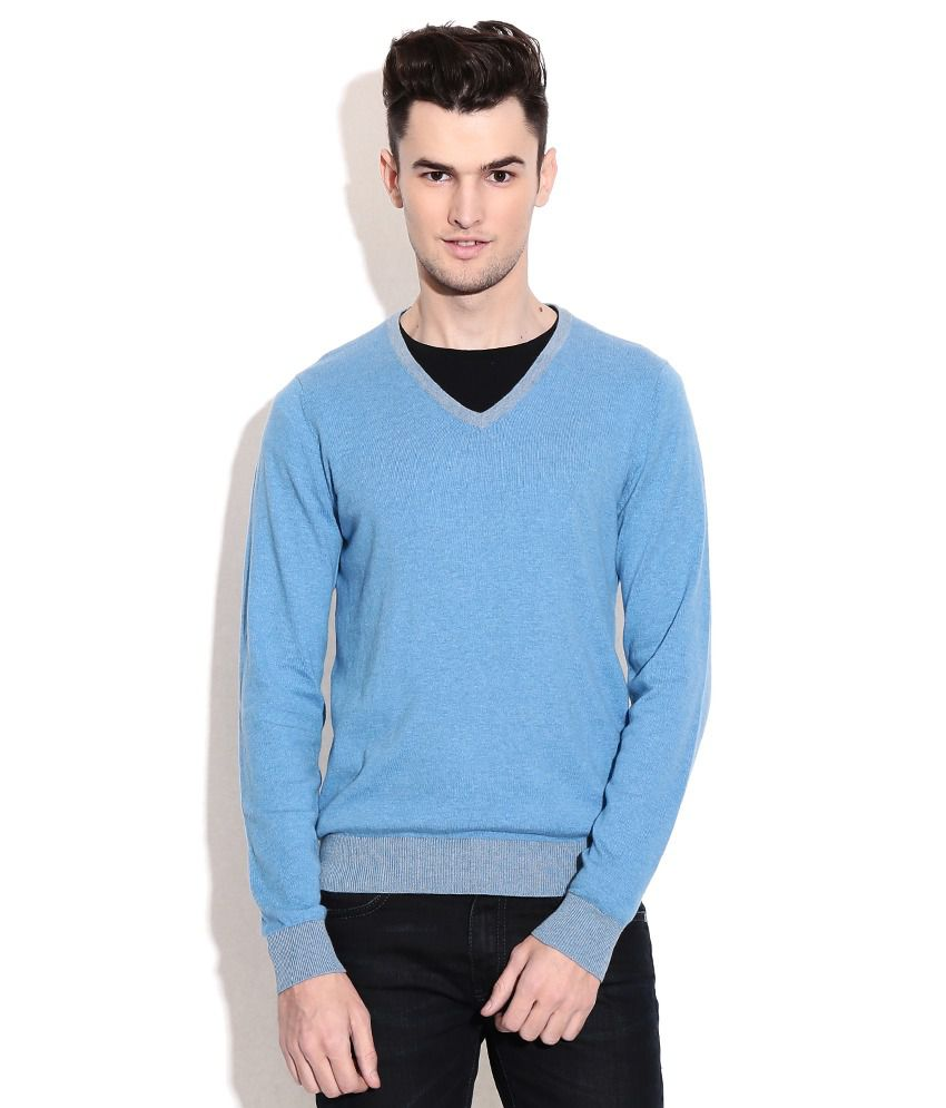 Gas Blue Full Sleeves Sweater