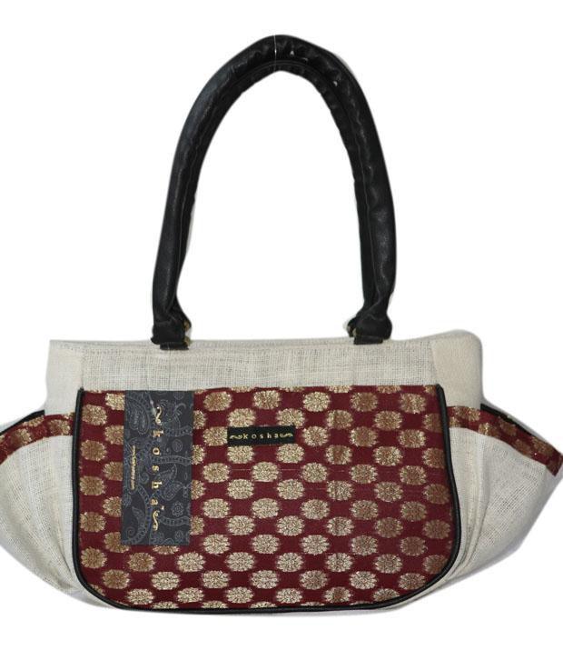 Kosha Black Jute Shoulder Bag