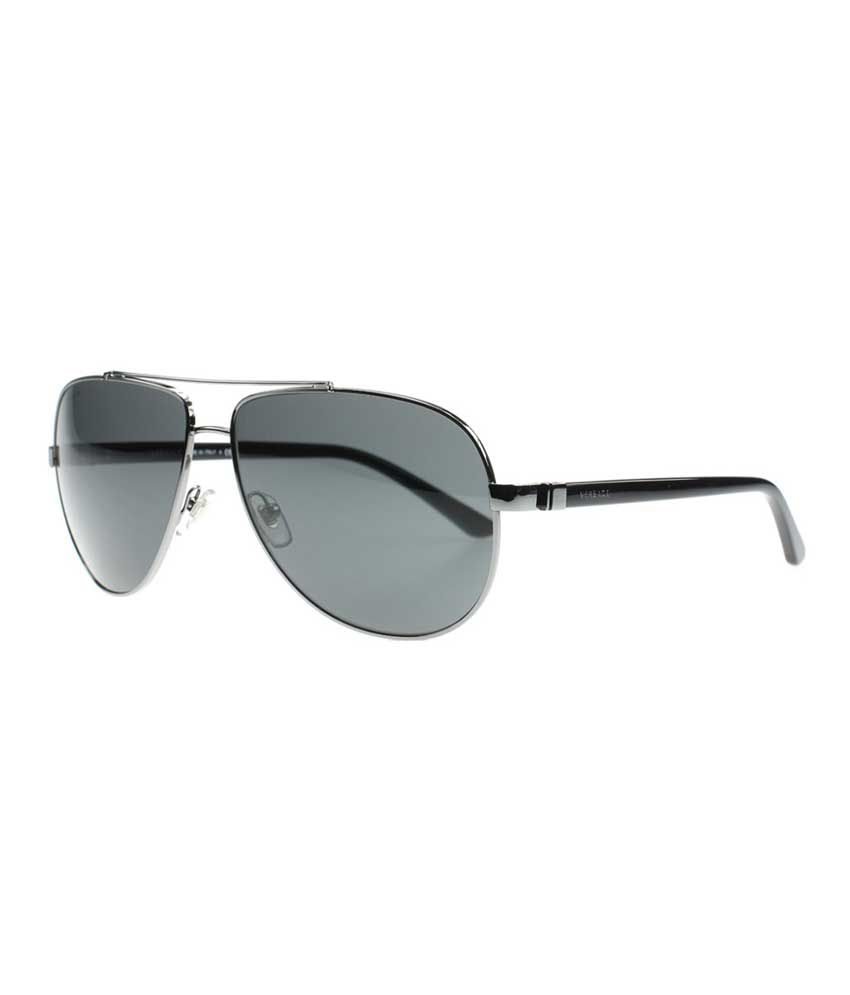 d1a9ab242d VERSACE-MOD-2151-1001-87 Designer Steel Aviator Sunglasses - Buy VERSACE-MOD-2151-1001-87  Designer Steel Aviator Sunglasses Online at Low Price - Snapdeal