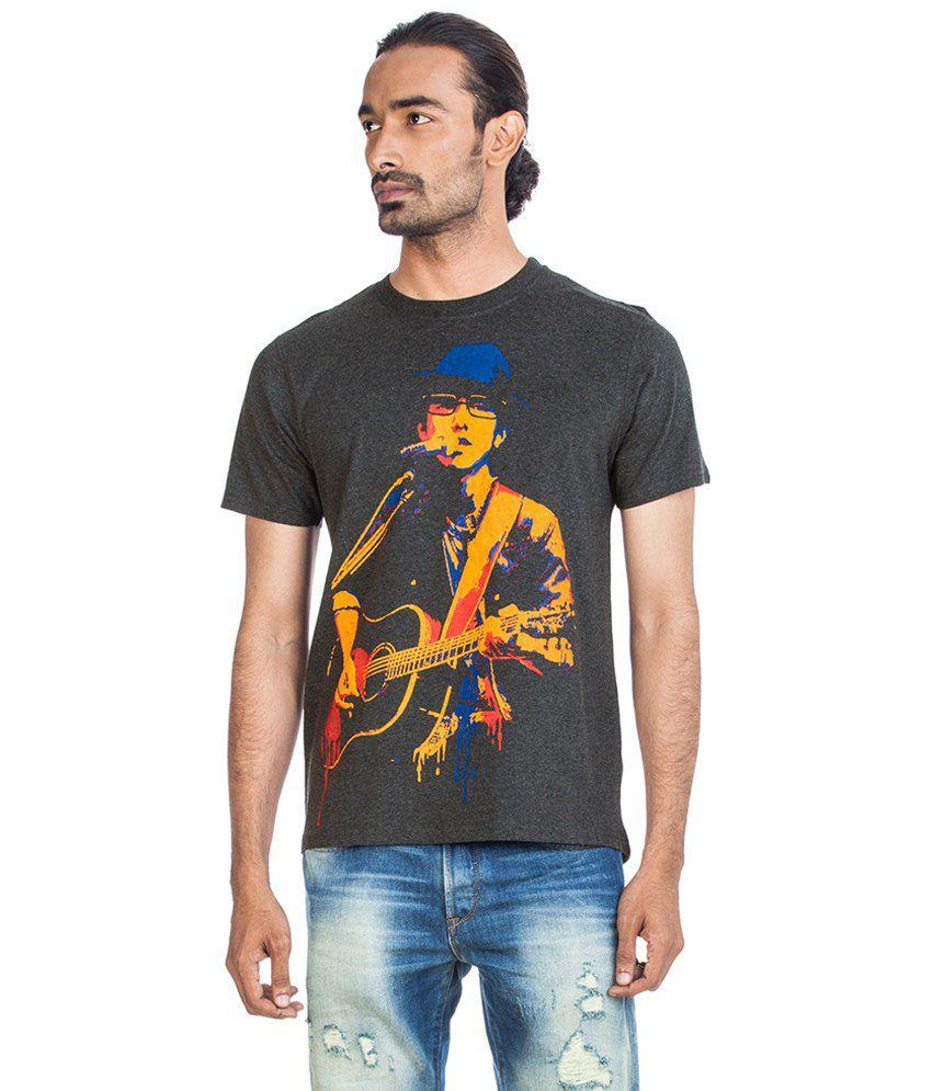 Zovi Steampunk Beatles Gray Graphic T Shirt