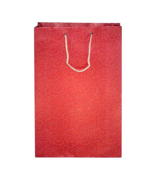 Dutta Enterprise Red Paper Bag - Pack Of 8