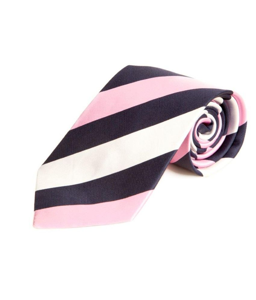 The Vatican Blue, Pink And White Broad Stiped Tie