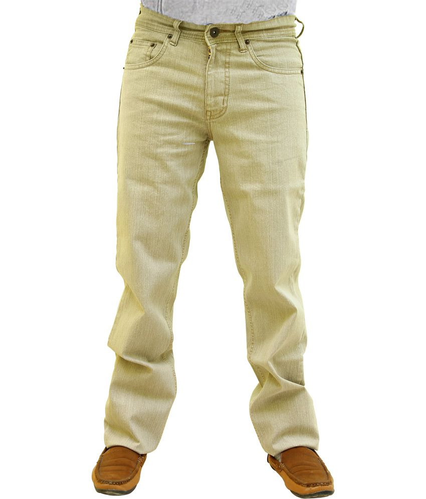 Wabba Brown Cotton Blend Jeans