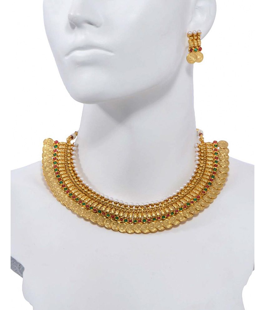 Alankruthi Gold Plated Traditional Necklace Set