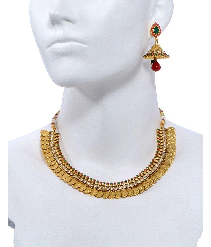 Alankruthi Gold Plated Traditional Necklace Set