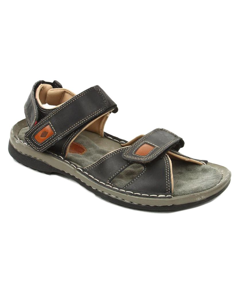 696f975b0d21d Lee Cooper Black Velcro Leather Dailywear Men Sandals Art BLC8766BLK - Buy  Lee Cooper Black Velcro Leather Dailywear Men Sandals Art BLC8766BLK Online  at ...