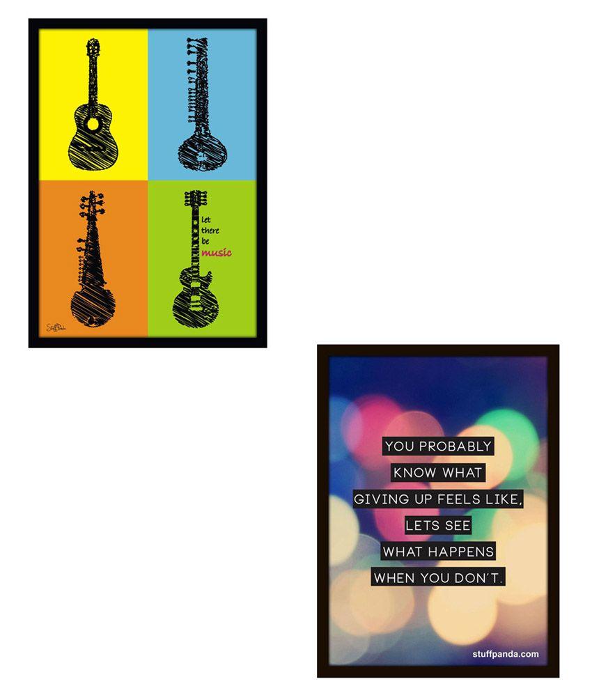 Stuffpanda Abstract Inspiring Glass Framed Posters Combo.