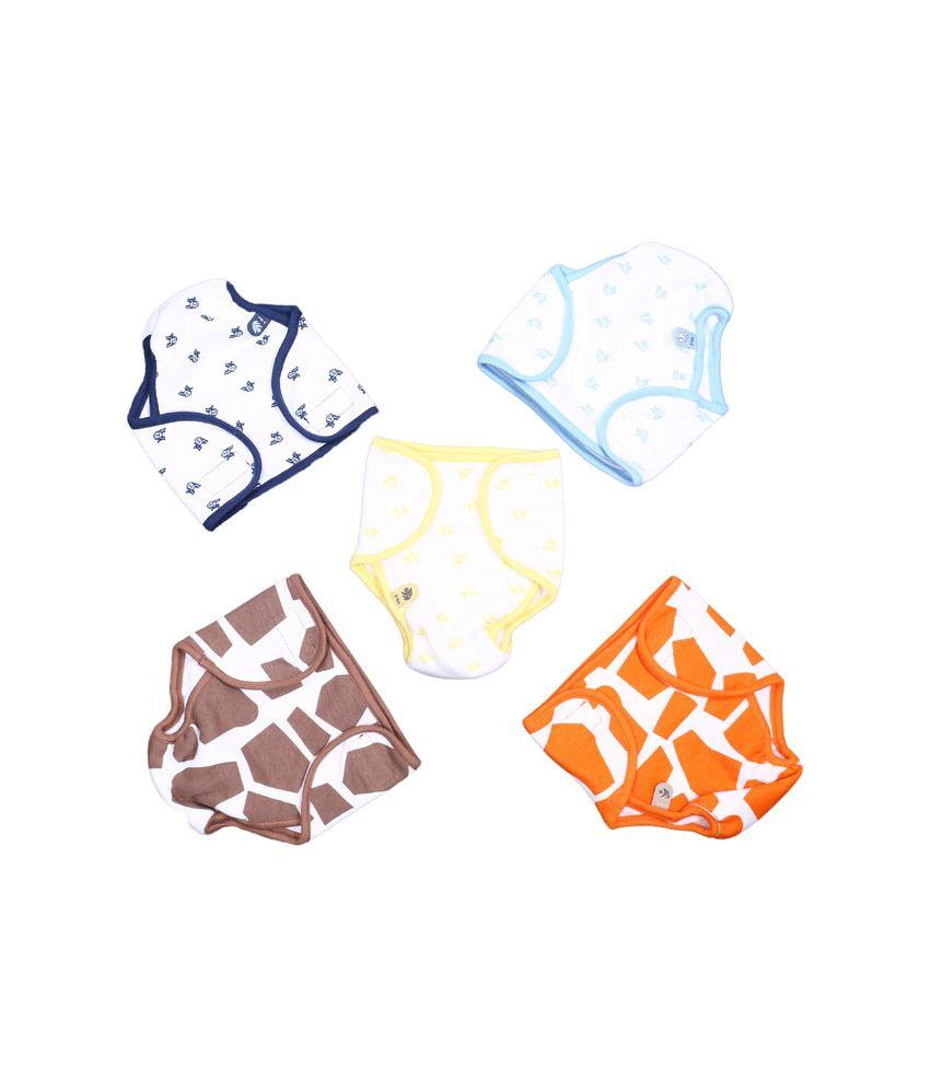 Bio Kid Multi-Colour Small Cloth Diapers