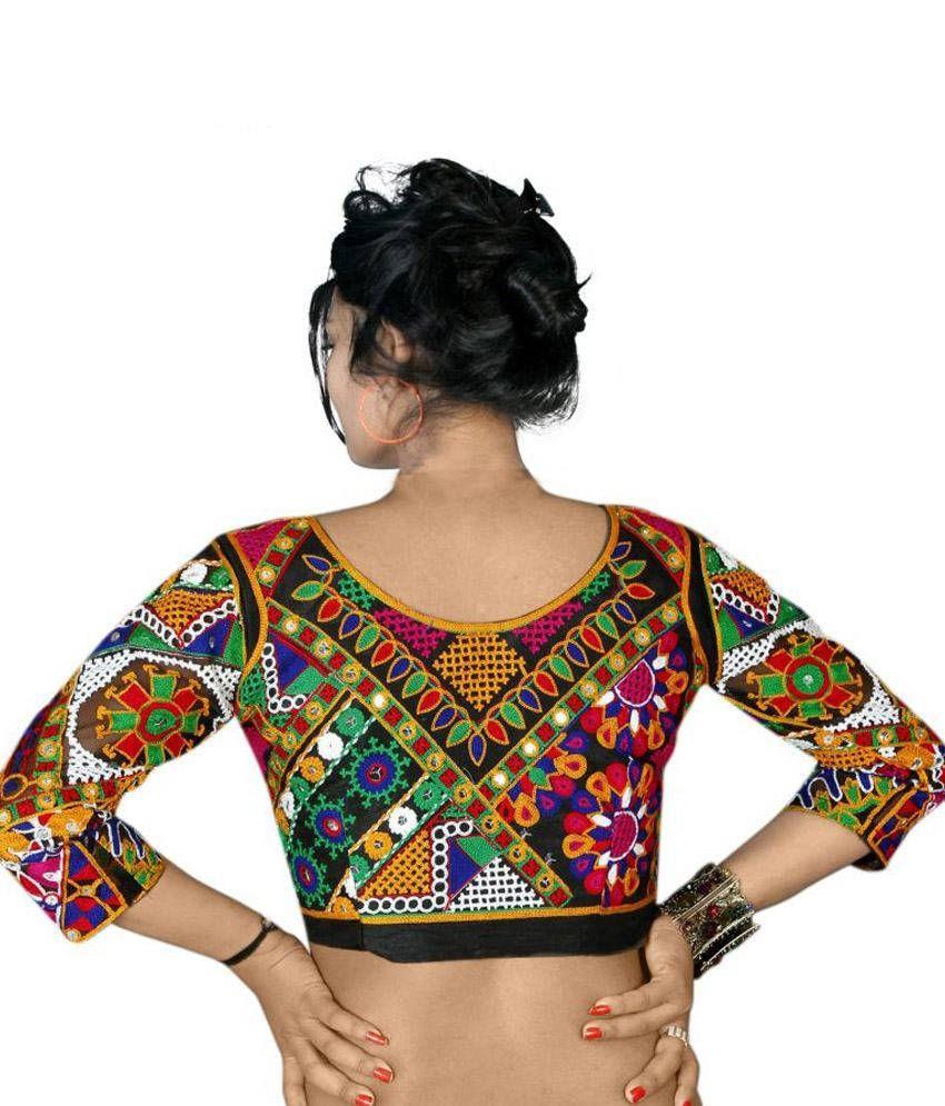 230e932428 ... Lifestyle Boutique Multi Color Viscose Gamthi Designer Semi Stitched  Blouse