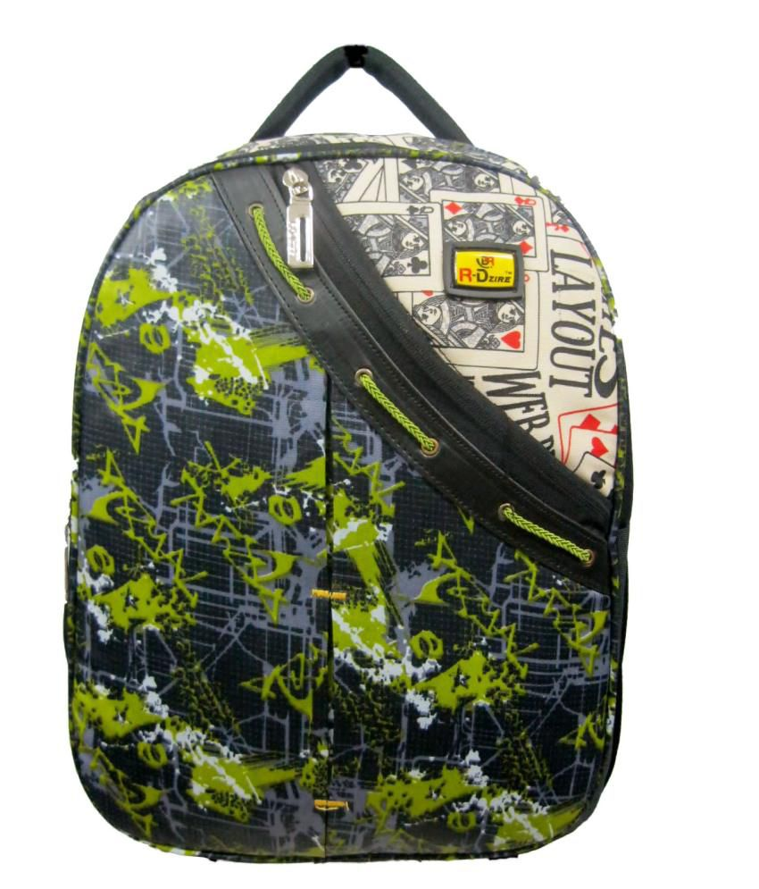 R-dzire Water Resistant Green Laptop Bag