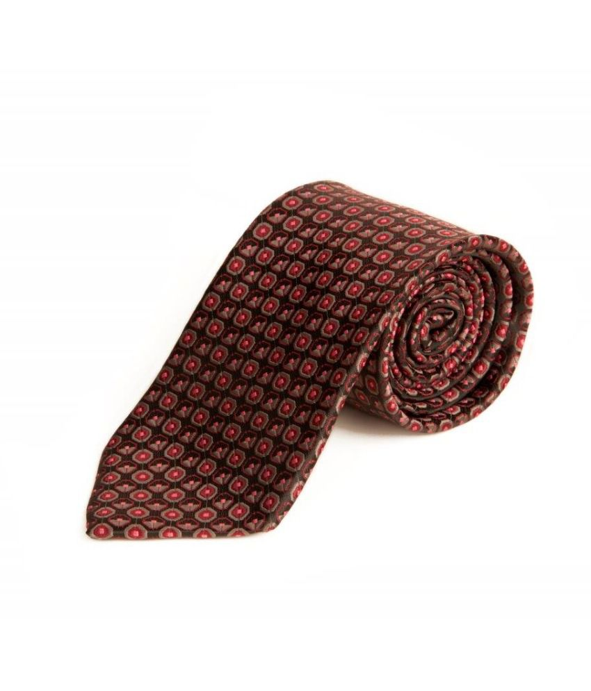 The Vatican Dark Grey Base With Cool Grey And Pink Design Tie