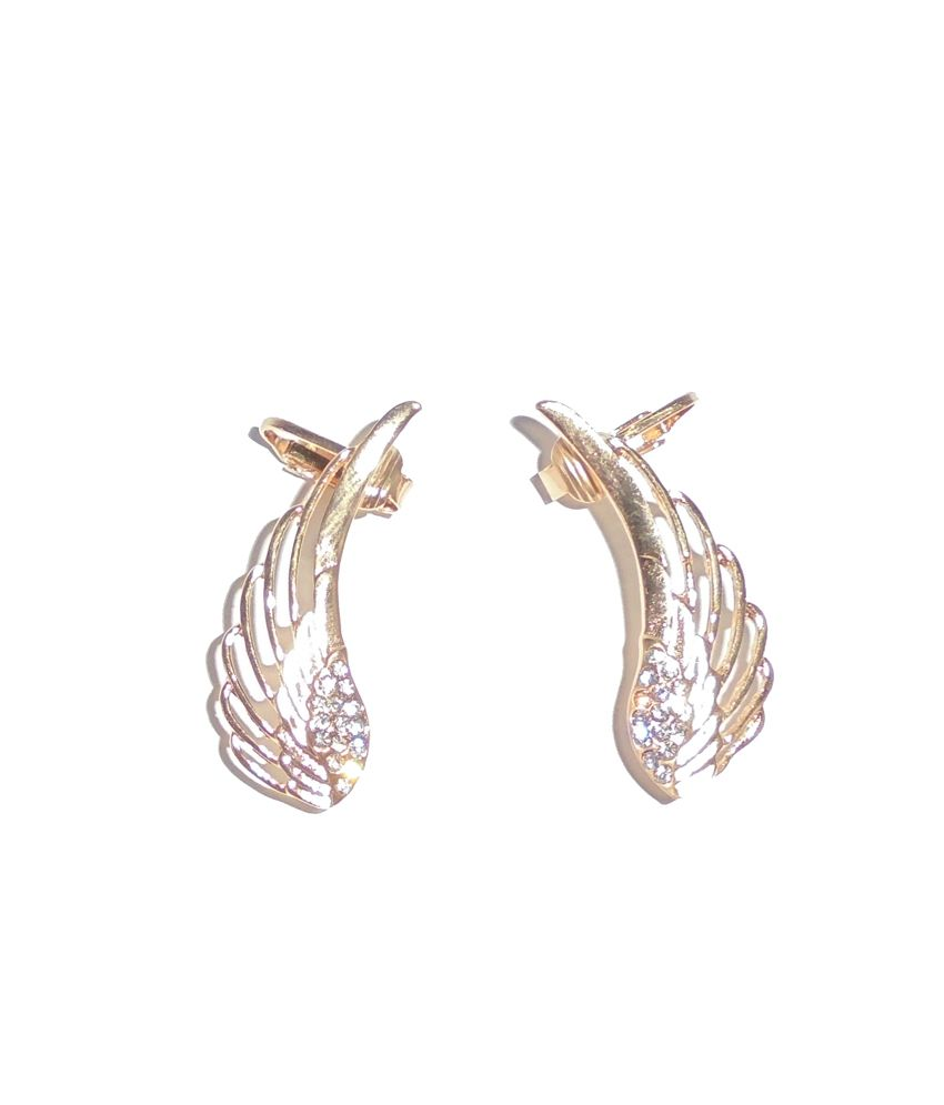 Adimani Gold Ear Cuffs Antique Designer Earrings