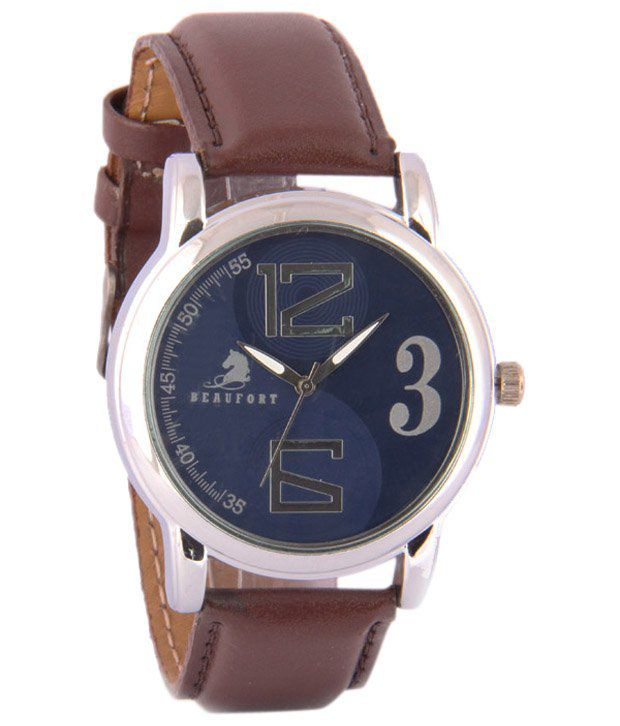 Beaufort Blue Wrist Watch For Men