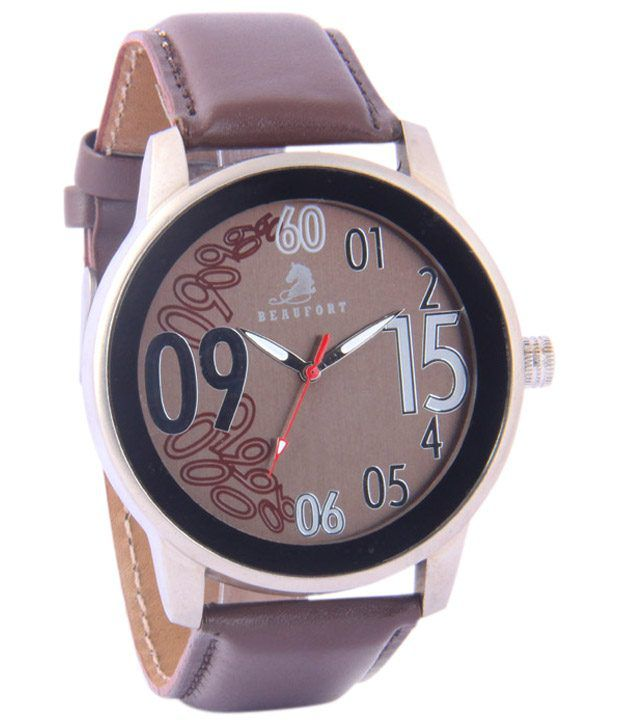 Beaufort Dazzling Brown Wrist Watch For Men