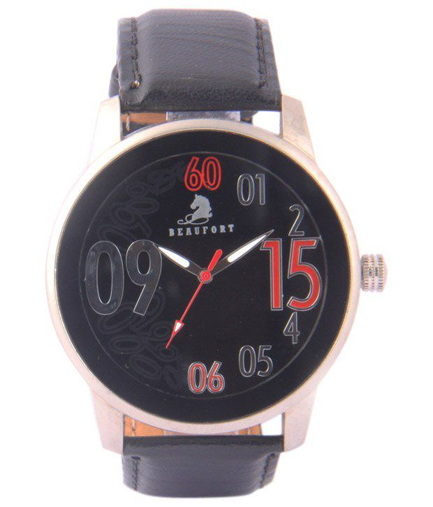 Beaufort Fine Looking Black Wrist Watch For Men