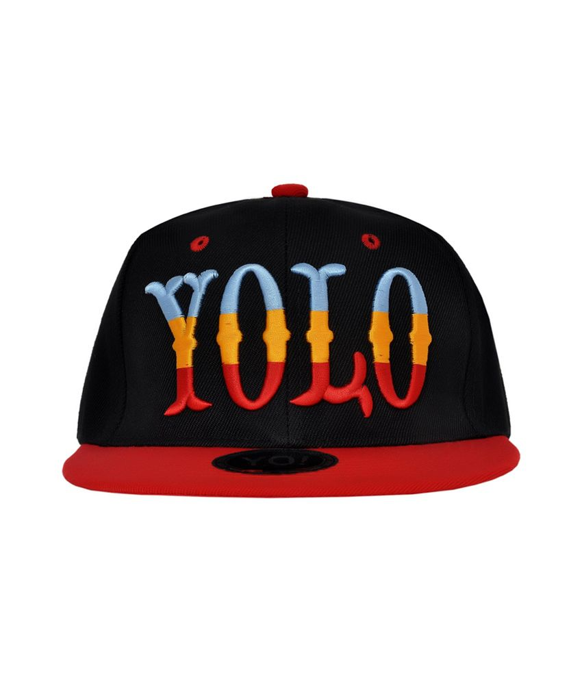 Cravers Black Cotton Summer Snapback Cap Yolo Cap - Buy Online   Rs ... 885f9cca048