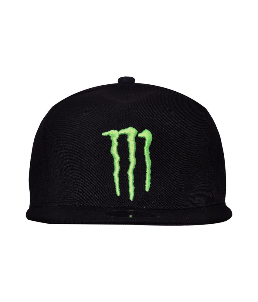 Cravers Black Cotton Summer Snapback Cap Monster Cap