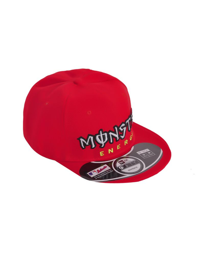 Cravers Red Cotton Summer Snapback Cap Monster Energy Cap