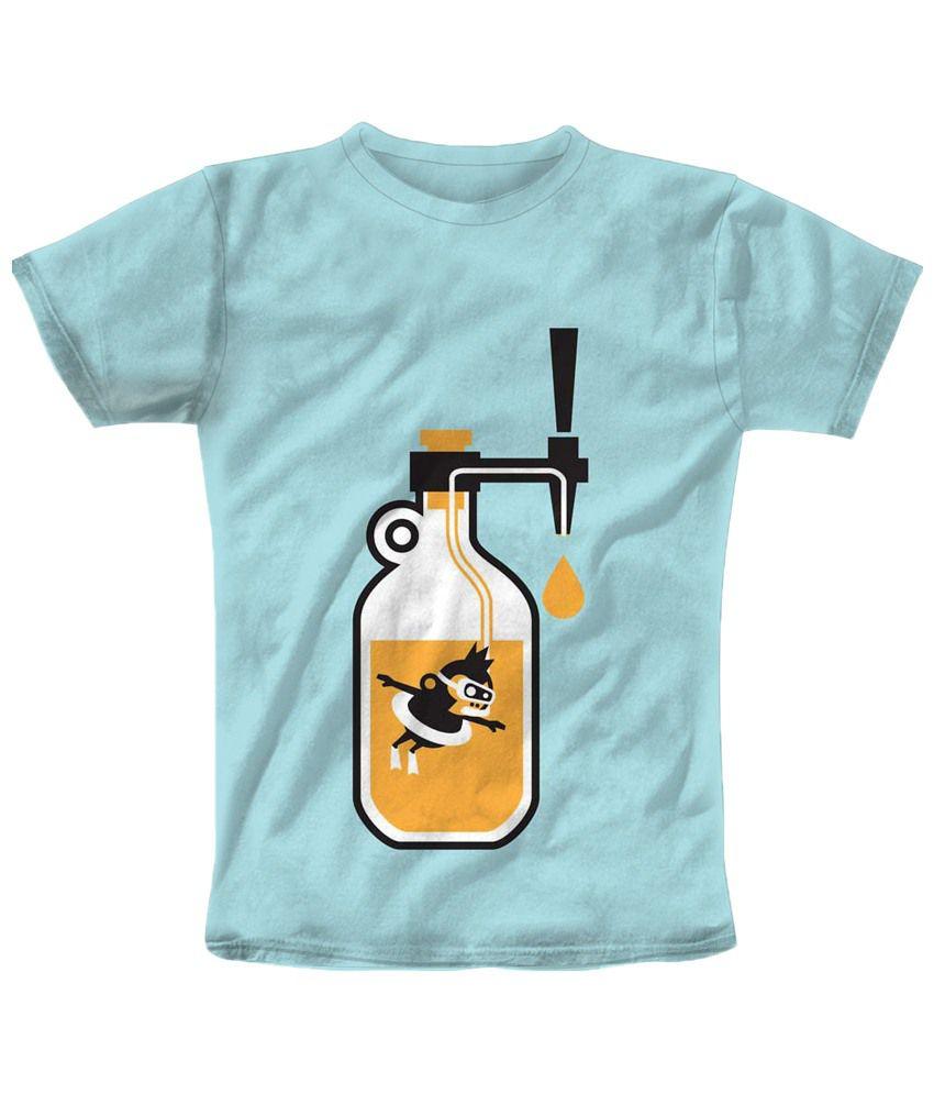 Freecultr Express Blue Bottle Half Sleeves T Shirt