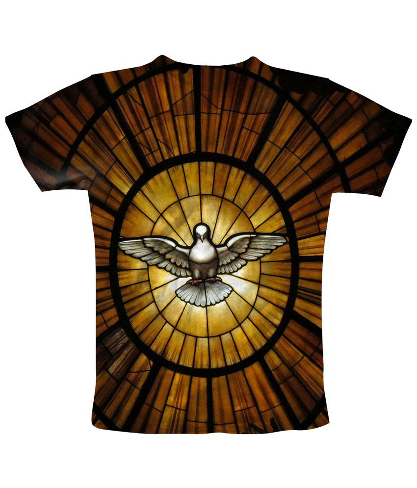 Freecultr Express Breath Taking Brown & Black Bird Fly Printed T Shirt