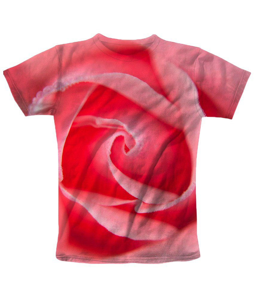 Freecultr Express Pink & Red Rose Graphic T Shirt