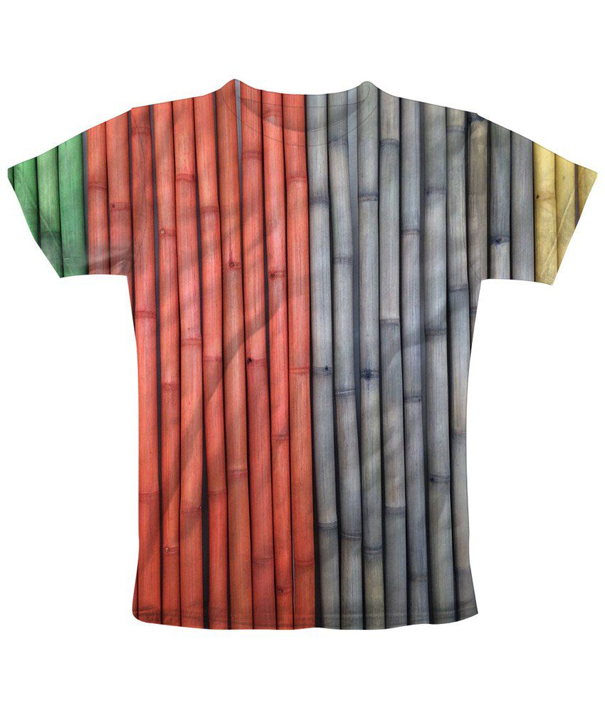 Freecultr Express Red & Gray Bamboo Colours Half Sleeve T Shirt