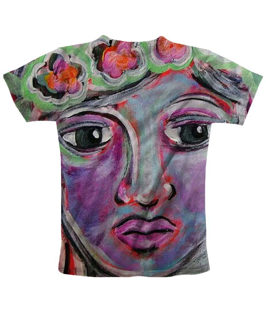 Freecultr Express Wonderful Multicolour Face Printed T Shirt