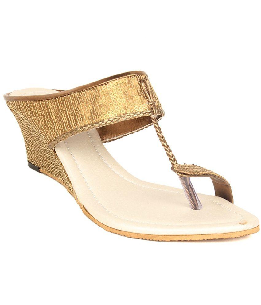 Lovely Chick Gold Heeled Slip-On