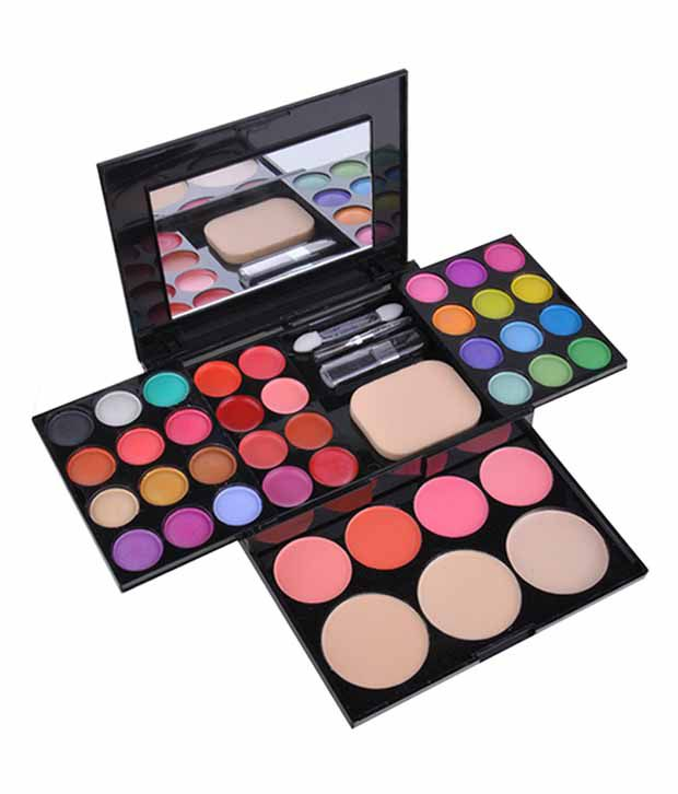 ADS Fashion Colour Makeup Kit - Eye shadow Blusher Lipstick Makeup Palette Kit: Buy ADS Fashion Colour Makeup Kit - Eye shadow Blusher Lipstick Makeup ...
