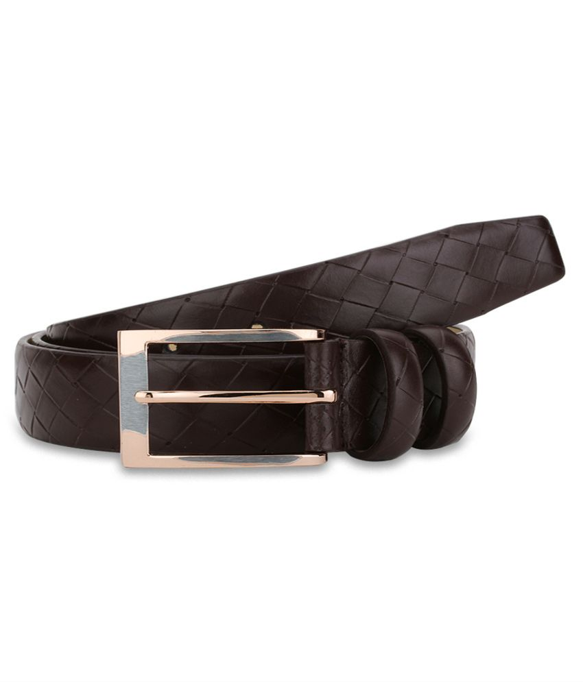 Addons Brown Pin Buckle Leather Belt