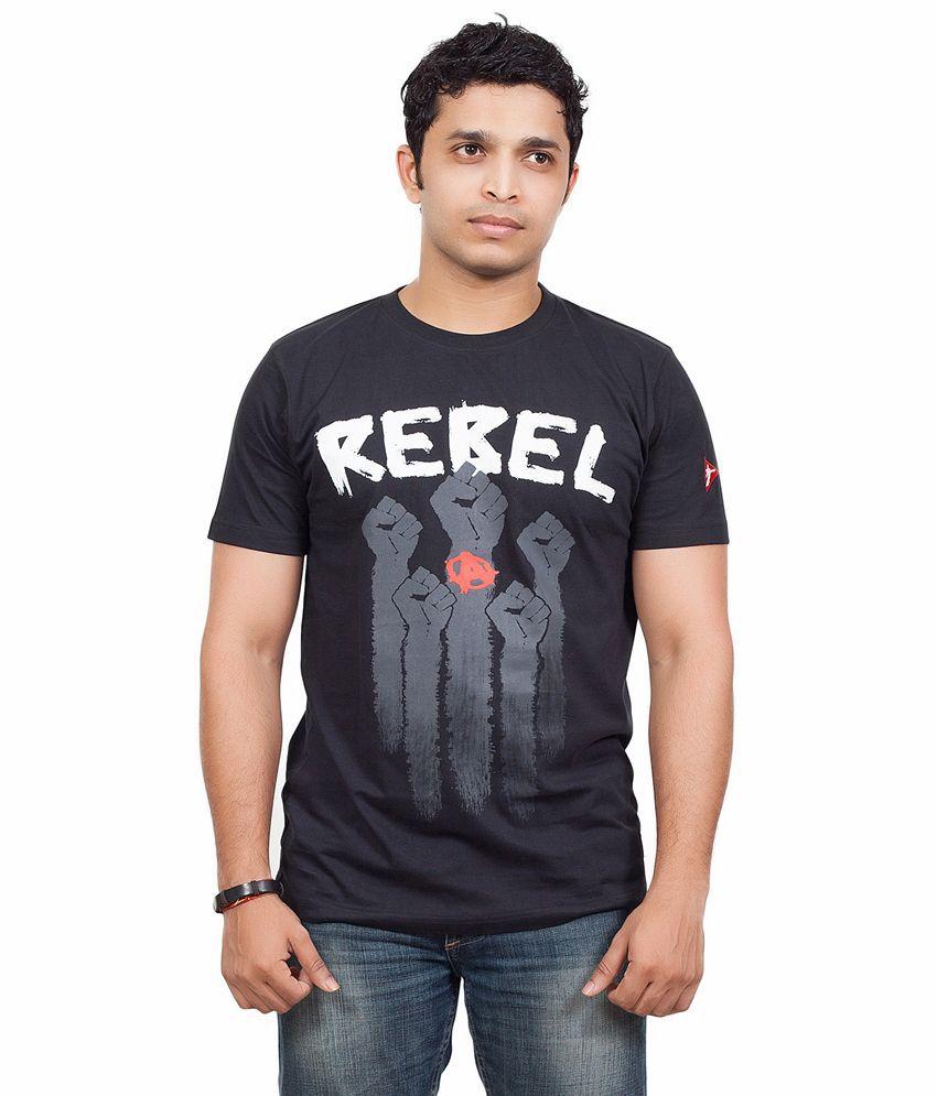Radical Clothing Rebel Men'S Cotton T Shirt-Black - Buy ...