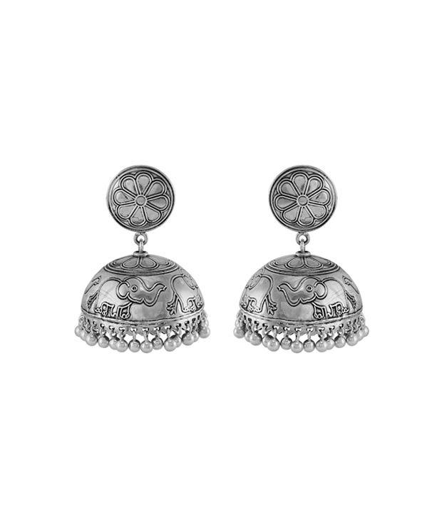 1b3dadb1e 925 Silver Elephant Theme Sterling Silver Jhumka Earring: Buy 925 Silver  Elephant Theme Sterling Silver Jhumka Earring Online in India on Snapdeal