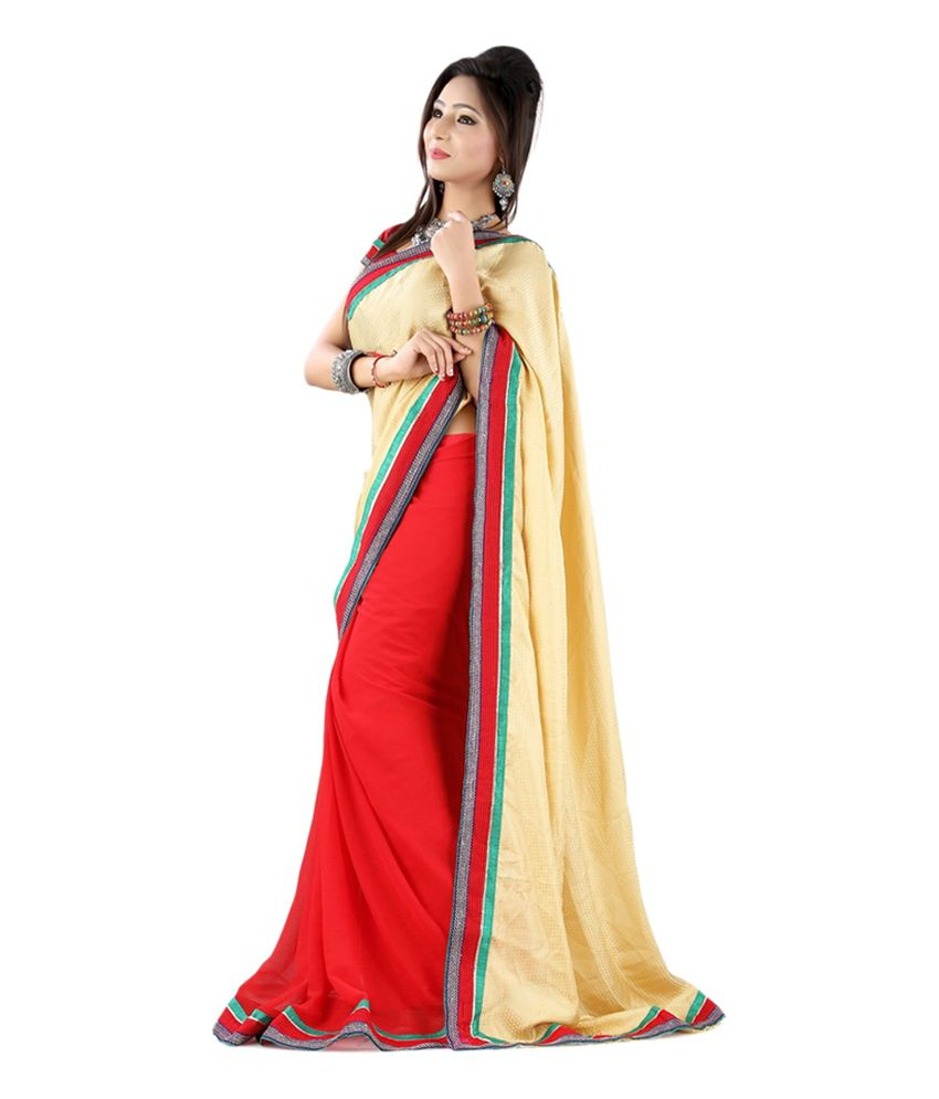 Fashion zone multi color art silk saree buy